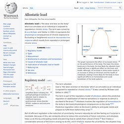 Allostatic load - Wikipedia