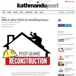 NRA to allow NGOs in rebuilding homes