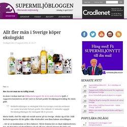 Allt fler män i Sverige köper ekologiskt