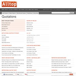 Alltop - Top Quotations News