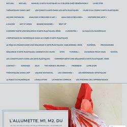 L'allumette, M1, M2, DU – Arts Plastiques