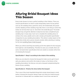 Alluring Bridal Bouquet Ideas This Season