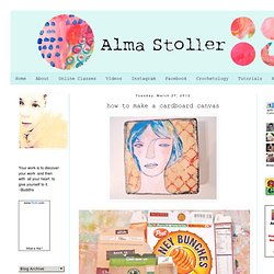 Alma Stoller: how to make a cardboard canvas