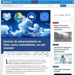 Servicios de almacenamiento en línea: cuatro contendientes, un solo vencedor