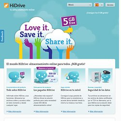 Almacenamiento online HiDrive - Love it. Save it. Share it.