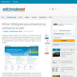 ADrive: 50GB gratis para almacenar tus archivos en la nube