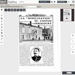 27 novembre 1912 - La mobilisation du canton d'Arracourt : Bézange-La-Grande.