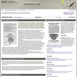 Almanach royal - Almanach royal