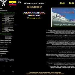 Ecuador Almanaque Agrícola Lunar 2012