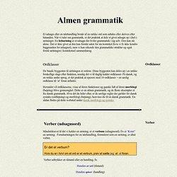 Almen grammatik
