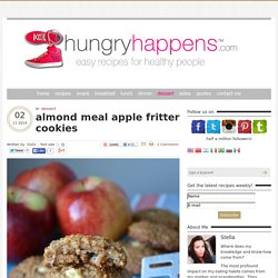 almond meal apple fritter cookies