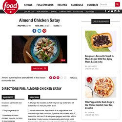 Almond Chicken Satay Recipes