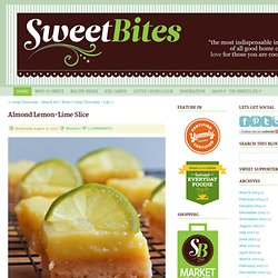Almond Lemon-Lime Slice - Home - Sweetbites Blog