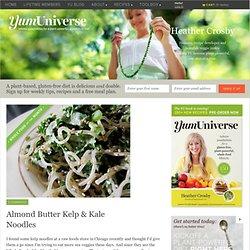 Almond Butter Kelp & Kale Noodles - YumUniverse™