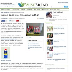 Almost 2000 Uses For WD 40