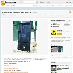 Presque libre Capteur solaire à air chaud
