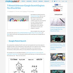 7 Almost Unknown Google Search Engines You Should Use | MakeUseO