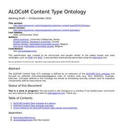 ALOCoM Content Type Ontology