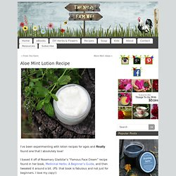 Aloe Mint Lotion Recipe