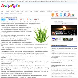 Aloe Vera and its benefits - Ayurveda