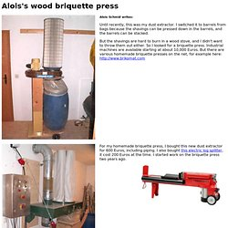 Alois's wood briquette press