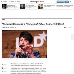 Nick D'Aloisio, 17, Sells Summly App to Yahoo