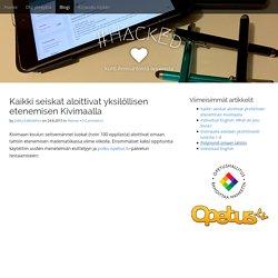 Kaikki seiskat aloittivat yksilöllisen etenemisen Kivimaalla - #HackEd
