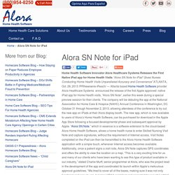 Alora SN Note for iPad - Healthcare with Technology at its Best