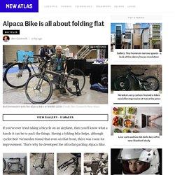Alpaca Bike is all about folding flat