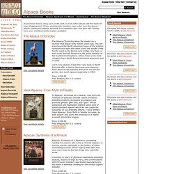 Alpaca Books from Northwest Alpacas