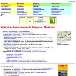 Alpenpassroute, ein Trek quer durch die Schweizer Alpen