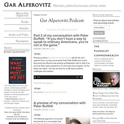 Category Archives: Gar Alperovitz Podcast