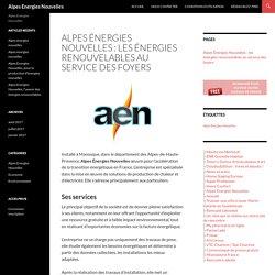 Alpes Énergies Nouvelles