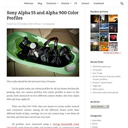 Sony Alpha 55 and Alpha 900 Color Profiles | Floz' Photo Blog