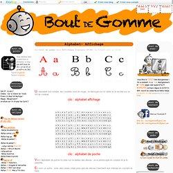 Alphabet- Affichage