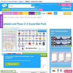 Alphabet and Phase 2-5 Sound Mat Pack - phase, sound, mat, pack