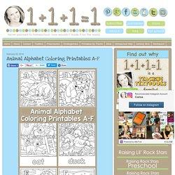 Animal Alphabet Coloring Printables A-F