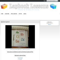 Alphabet Lapbook - Lapbook Lessons
