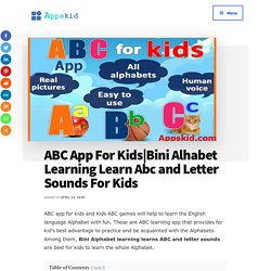 ABC App For Kids & Bini Alphabet Learning Learn Abc and Letter Sounds