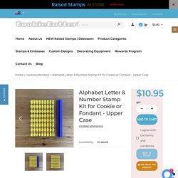 Alphabet Letter & Number Stamp Kit for Cookie or Fondant - Upper Case