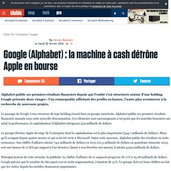 Google (Alphabet) : la machine à cash détrône Apple en bourse
