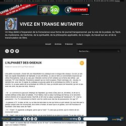 L'ALPHABET DES OISEAUX - VIVEZ EN TRANSE MUTANTS!