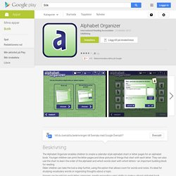 Alphabet Organizer – Android-appar på Google Play