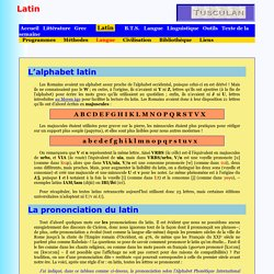 Alphabet et prononciation du latin