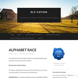 ALPHABET RACE