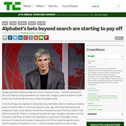Alphabet's bets beyond search are starting to pay off