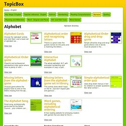 Alphabet English Resources from TopicBox