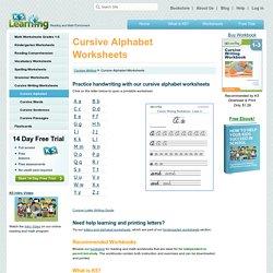 Free Cursive Alphabet Worksheets - Printable