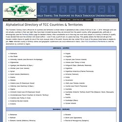 List of all the countries and territories of the world