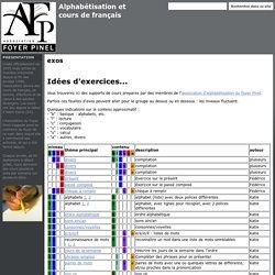 exos - Alphabétisation et cours de français